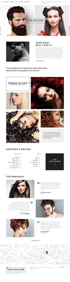 Hair Salon Joomla Template