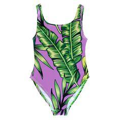Batoko Tropical Swimsuit   Women's Pink Leaves Bathing Suit Swim Body – BATOKO