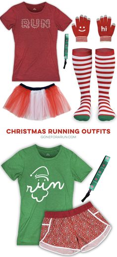 Get ready for your Christmas run with these fun and festive running outfit ideas!