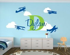 Planes bedroom theme, with his name