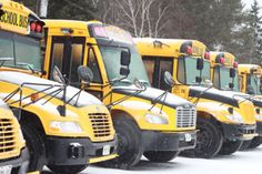While uncommon for this time of year, school buses were canceled and some rural schools closed to do Monday's ice and snow