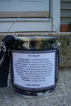 it's not over 'til the craft lady sings...: 40th birthday survival kit...