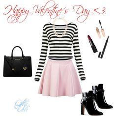 Valentine's Day by alexndraslifer on Polyvore featuring ONLY, Valentino, Michael Kors, J.Crew and Forever 21