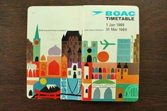 1960s BOAC Timetable