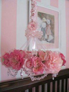 Pink shabby chic flower Power rose
