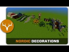 Minecraft Building Tutorial : How to build Nordic Town Decorations - YouTube