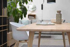 Maatwerk Tafel type Fjord - retro scandinavische tafel van massief eiken