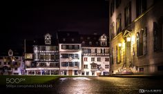 St.Gallen at Night by Altrim. @go4fotos