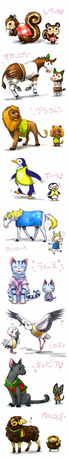 Real Animal Crossing animals. This is so cute! ^-^