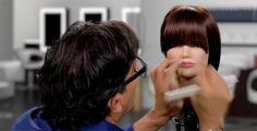 Perfecting The Fringe - Twist Cut Front and Side Sweeping Fringes   Sam Villa Blog