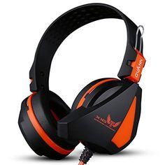 Amazon.com: Ovann X16OG PC Stereo Skype Gaming Headphones Headband Music Headset with Dual 3.5mm Omni-directional Mic + LED Light + Volume Control for Computer PC Laptop Desktop Notebook Gamer(Orange): Computers & Accessories