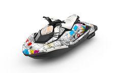 2014 Sea-Doo Spark with Sunshade Gray wrap.  www.sea-doo.com