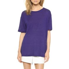 Rank & Style Top Ten Lists | T by Alexander Wang Linen Silk Jersey Oversized Tee #rankandstyle #blue #soft #tee #crew