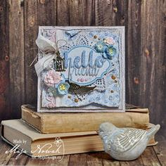 Project Ideas for Sizzix - Tim Holtz - Alterations Collection - Thinlits Die - Friendship Words - Script