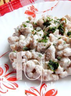 Špaldovo-orechové halušky s bryndzou