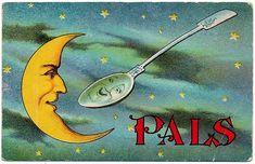 Pals vintage postcard 1910.