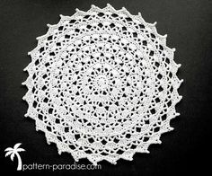 Crochet Pattern Clea Doily by Pattern-Paradise.com   good for placemats?