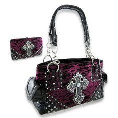 Metallic Hot Pink Tiger Print Studded Concealed Carry Purse and Wallet w/Cross Things2Die4,http://www.amazon.com/dp/B00GYE3GKC/ref=cm_sw_r_pi_dp_Pwu4sb012KE34N92