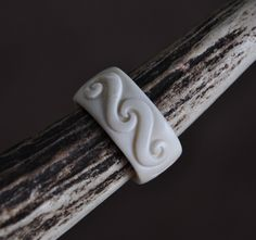 Maori koru trinity symbolising Family unity & love ~Hand carved bone ring. by JackieTump on Etsy