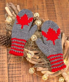 Show your Canadian pride right down to your fingertips with knit mittens that sport the national symbol. Chart is included for knitting the leaf right into your mittens.