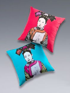 shanghai tang pillows :-) we buy the blue one!