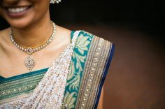 The neat folding and arranging of this bride's sari pleats is perfect. South Asian Bride, South Asian Wedding, Wedding Sari, White Wedding Dresses, Asian Inspired Wedding, Gold Hats, Wedding Ideas Board, Big Fat Indian Wedding, Indian Outfits