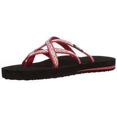 Teva Women's W Olowahu Sandal (5 B(M) US / 36 EUR, sland Red)