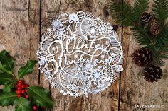 Samantha's Papercuts: Winter Wonderland Papercut Template