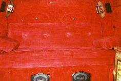 1978 Custom Chevy Van Interior Red by b9owner, via Flickr