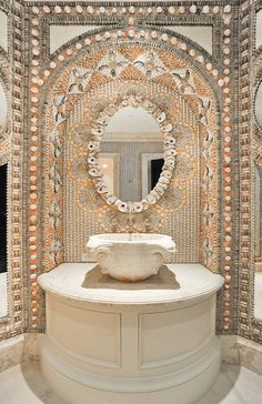 wow seashell bathroom