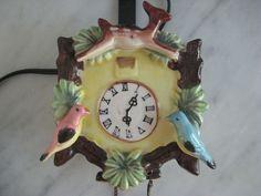 Vtg Ceramic Bird Cuckoo Clock Wall Pocket Mccoy Pottery, Vintage Pottery, Vintage Love, Vintage Walls, Old Clocks, Cuckoo Clocks, Ceramic Birds, All Birds, Wall Pockets
