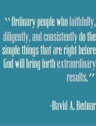 David A. Bednar quote - #Consistency #Results #Success #extraordinary