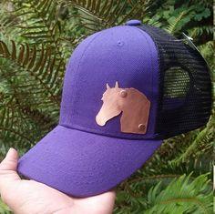 Copper Horse Trucker Hat Horse Hat Horse Mesh by CabinCreekJewelry