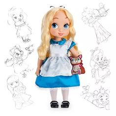 alicia muñeca animators de coleccion disney store original