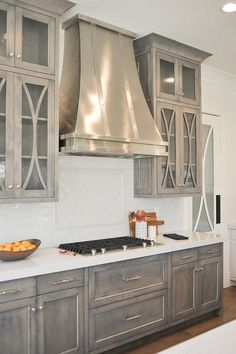 Inspirational Stainless Steel Kitchen Cabinets with Glass Doors