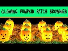 Chocolate Brownie Pumpkin Patch Recipe   How to Make GLOWING Halloween BROWNIES Pie