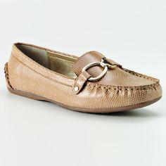 Croft & Barrow Women's  JILL Textured Nude Loafers Flats Slip-On shoes 10 NEW #CroftBarrow #flats #Casual