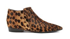 Santoni | leopard print pony ankle boot with internal elastic #fw1415 #woman