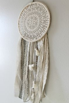 One of my favorite websites to look at for decorating inspiration is Urban Outfitters. Their carefree, hippie style makes me happy I saw this Dreamcatcher the other day on their site and LOVED it but didn't want to spend $100. I went to Hobby Lobby and got an embroidery hoop, some fun ribbon and yarn, …
