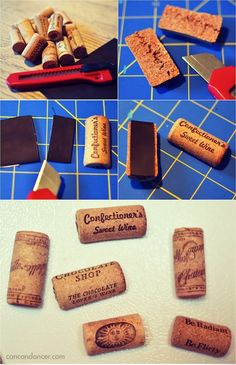 Can Can Dancer: Wine Cork Magnets