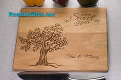 Image result for cutting board home sweet home tree
