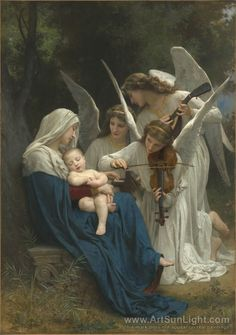 off Hand made oil painting reproduction of La Vierge Aux Anges, one of the most famous paintings by William-Adolphe Bouguereau. The French artist William-Adolphe Bouguereau painted the artwork entitled La Vierge Aux Anges, trans. William Adolphe Bouguereau, Madonna Und Kind, Madonna And Child, Catholic Art, Religious Art, Catholic Store, Catholic Company, Roman Catholic, Catholic Hymns