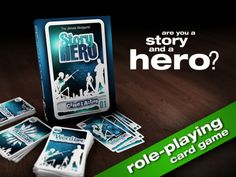 StoryHero is a role-playing card game. Everyone can be a hero. You are as unique as your stories are! Be a story and a hero!