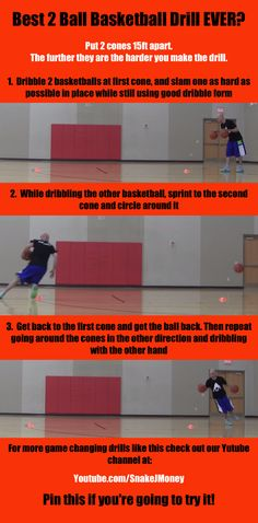 Best 2 Ball Basketball Drill Ever? #basketball #ballislife