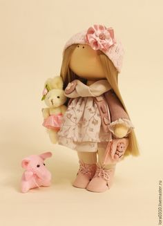 Купить Леди в розовом - розовый, кукла ручной работы, кукла в подарок, кукла для девочки