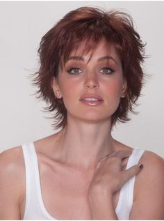 Sassy Cut Synthetic Wig : Belle Tress Sassy Cut Synthetic Wig, CINNAMON HL Dark Brown base that graduates to Cinnamon Red Highlights Medium Thin Hair, Short Thin Hair, Short Hair With Layers, Short Hair Cuts, Medium Hair Styles, Curly Hair Styles, Medium Blonde, Short Blonde, Pixie Cuts