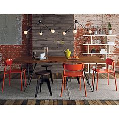 fleet hot orange chair in dining chairs, barstools | CB2...I must have those chairs!