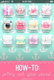 How-To: Primp Your Phone! This post takes you step-by-step and makes the process so fun & easy to understand! Must-pin for anyone who wants to cute-ify their phones! This is real and so cute for iPhone users that want to customize it. Iphone Hacks, Iphone 5, Cocoppa Wallpaper, Apps, Planner, Grafik Design, Good To Know, Tricks, Bunt