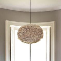 Aurora Vita Eos Feather Pendant Shades in Light Brown - Lamp Shades - Lighting Accessories - Lighting & Mirrors