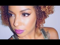 Neutral Makeup Look With A Pop Of color | BeautybyLee - YouTube